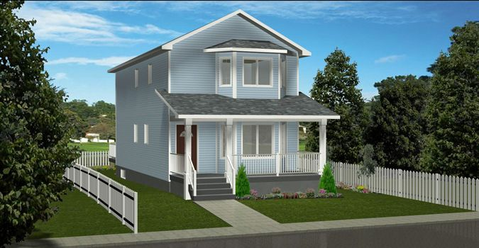 Plan 2014834 2 Storey House Plan For A Narrow Lot 3 Bedroom Main Floor Laundry Pantry Covered Front Ve In 2021 House Plans Two Storey House Plans Two Storey House