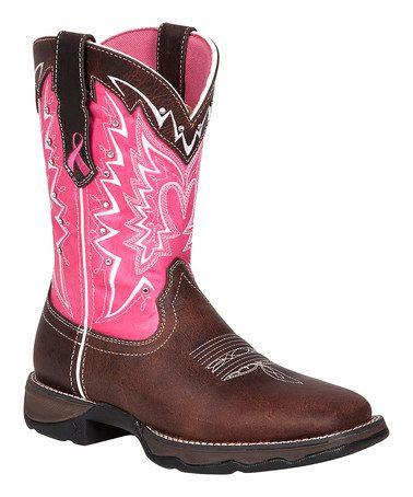 Look what I found on #zulily! Pink Stefanie Spielman Fund Leather Western Boot #zulilyfinds