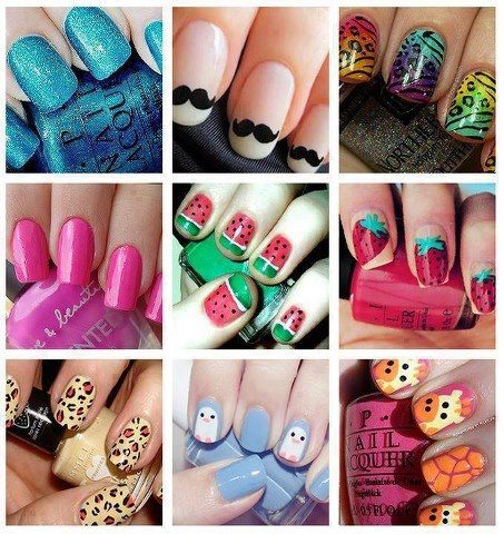 3 on pinterest nail designs tumblr monsters inc and jackson pollock - Nail Polish Design Ideas