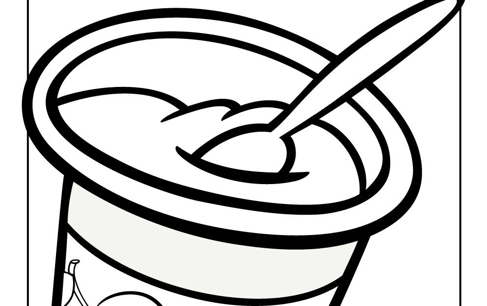 Coloring Picture Of Yogurt In 2020 Coloring Pictures Frozen