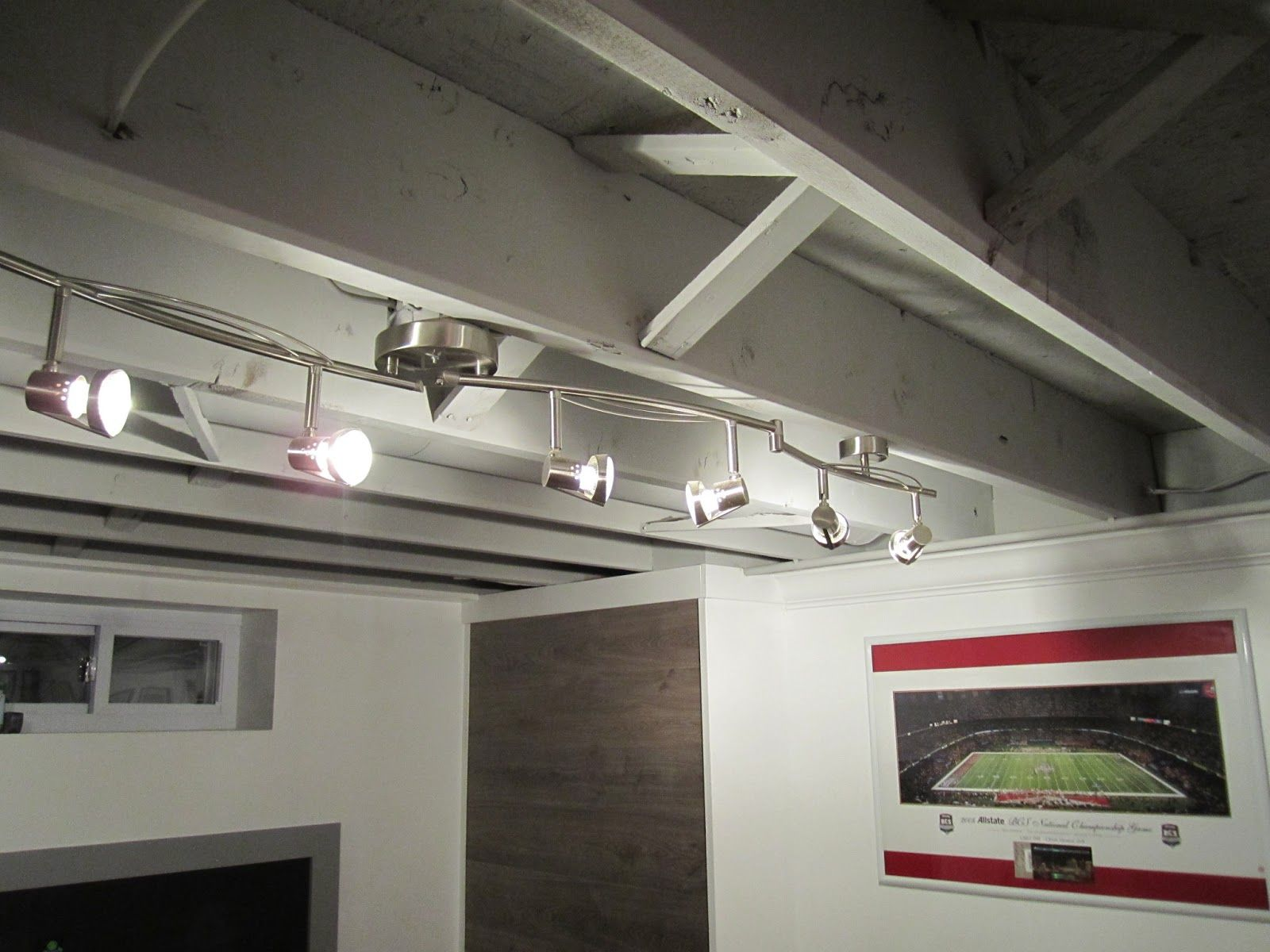 Lighting Basement Washroom Stairs: Best Unfinished Basement Ceiling Ideas On A Budget