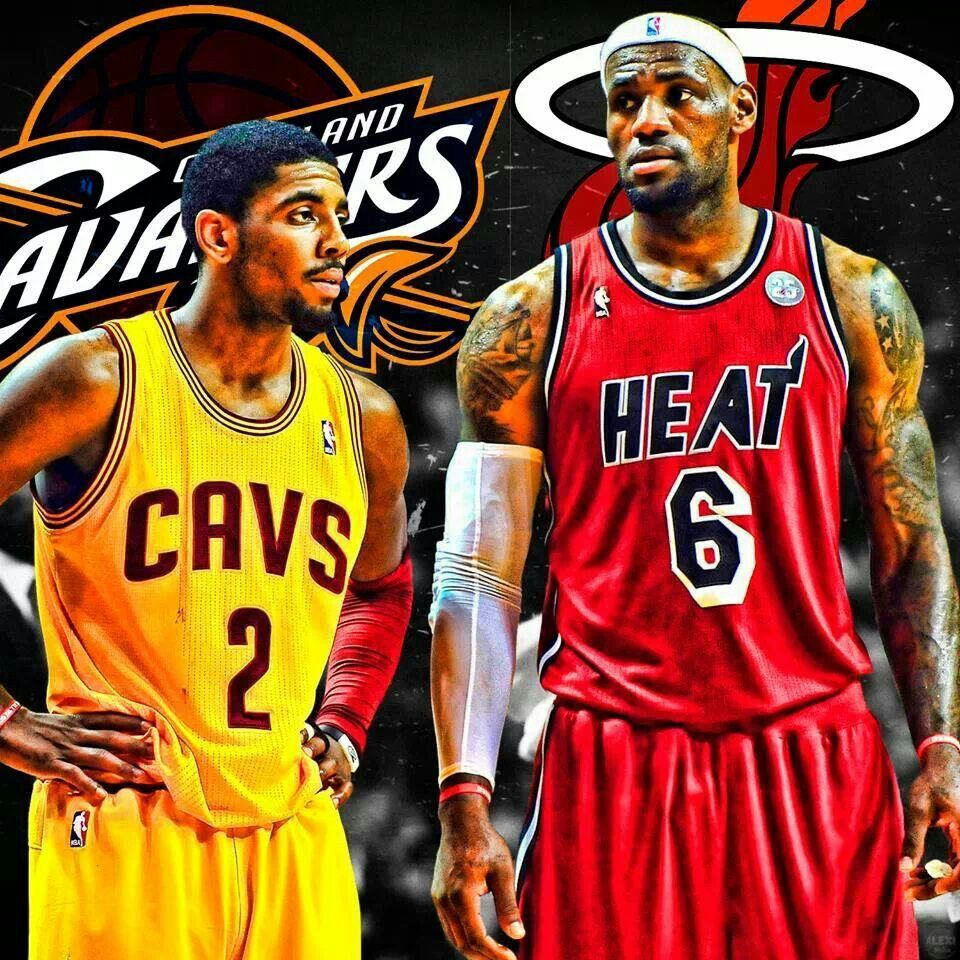 Kyrie Irving (Cleveland Cavaliers) and Lebron James