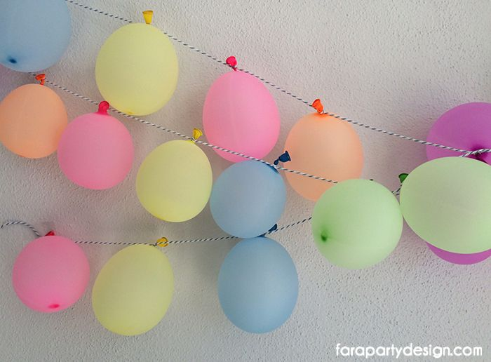 Fiesta de Globos de agua por Fara Party Design | Waterballoon Party by Fara Party Design