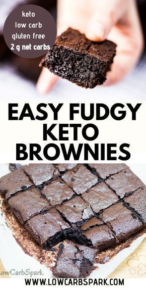 Best fudgy keto brownies - Only 2g net carbs Best