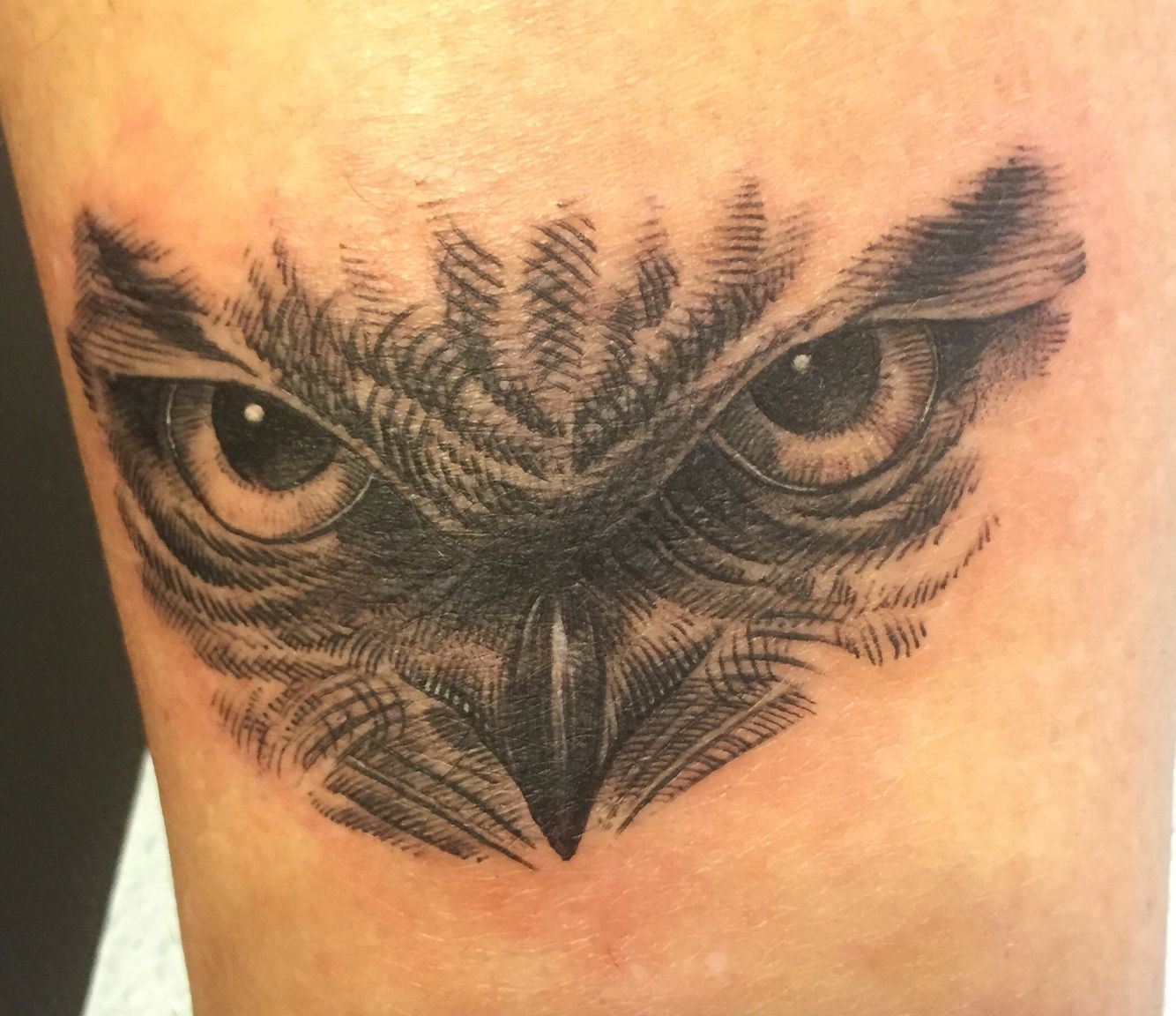 Owl Eye Tattoo By Marc At Electric Ladyland Tattoo In NOLA