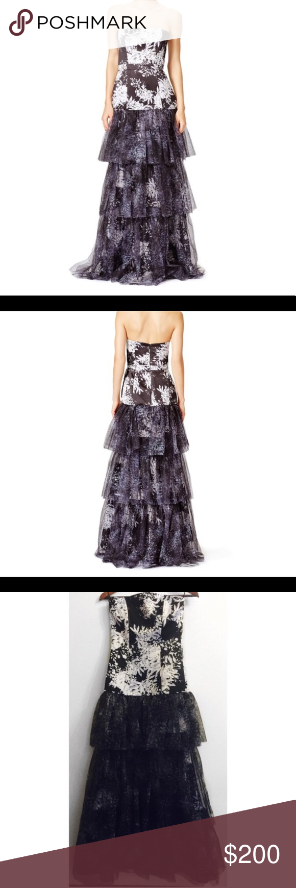 Parker black floral formal gown size formal gowns formal and