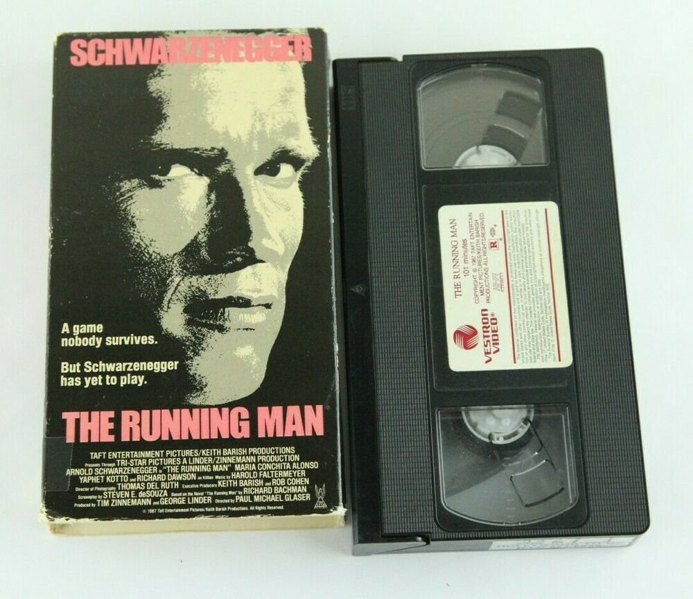 Details about the running man vestron video vhs tape