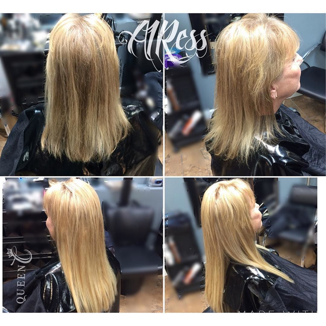 This queen went through chemotherapy several months until recently. Although she didn't lose all of her hair she still experienced some hair loss and thinning. After getting the AIRess clip-in Extensions she says she feels like herself again! The AIRess Collection is perfect when you just want to add volume and even some length, too!