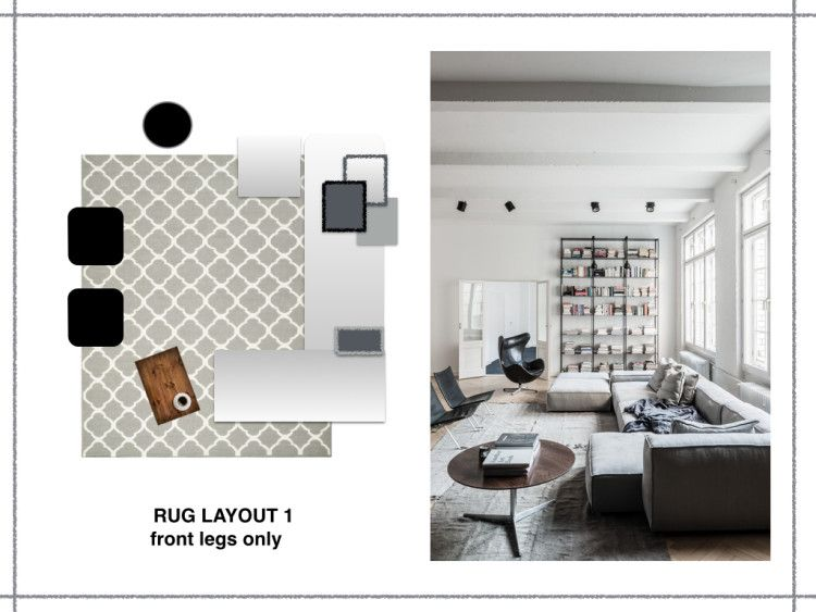 How Big Should A Rug Be Mad About The House Rugs Layout Interior Design Interior Design Living Room