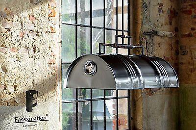 Pendelleuchte Hangelampe Hangeleuchte Aus 60 L Fass Olfass Industrie Geburstet Lampe Fass Pendelleuchte