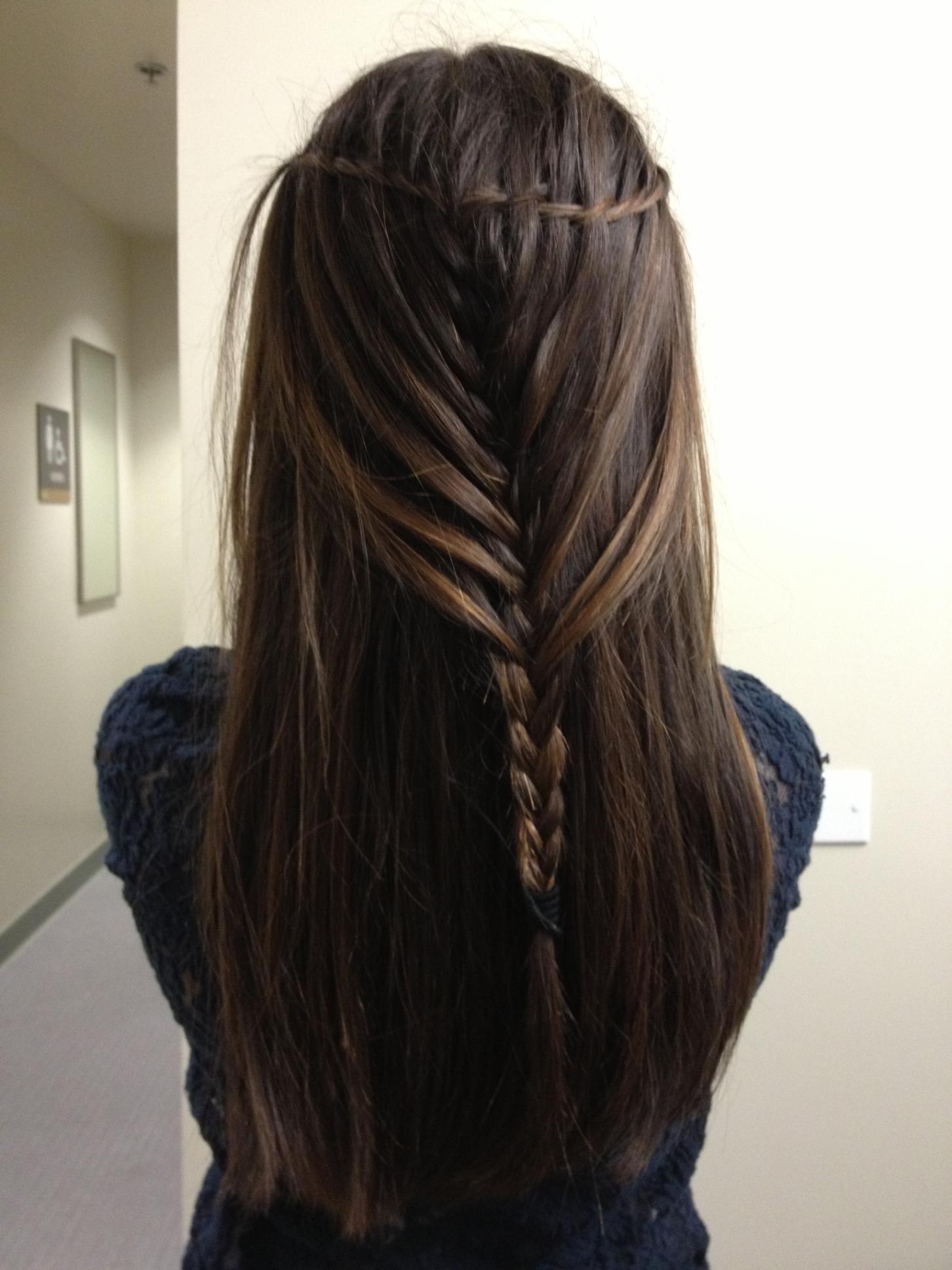 Waterfall mermaid braid HairBySelena Pinterest
