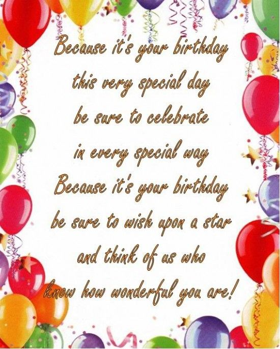 Because It S Your Birthday This Very Special Day Beautiful