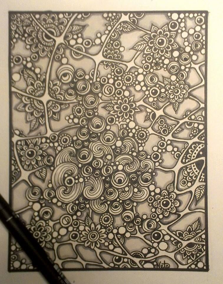 a full page of amazing zentangle designs
