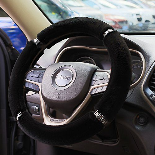 Valleycomfy Fluffy Warm Steering Wheel Cover (Black). For product ...