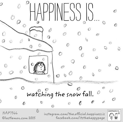 Happiness is watching the snow fall