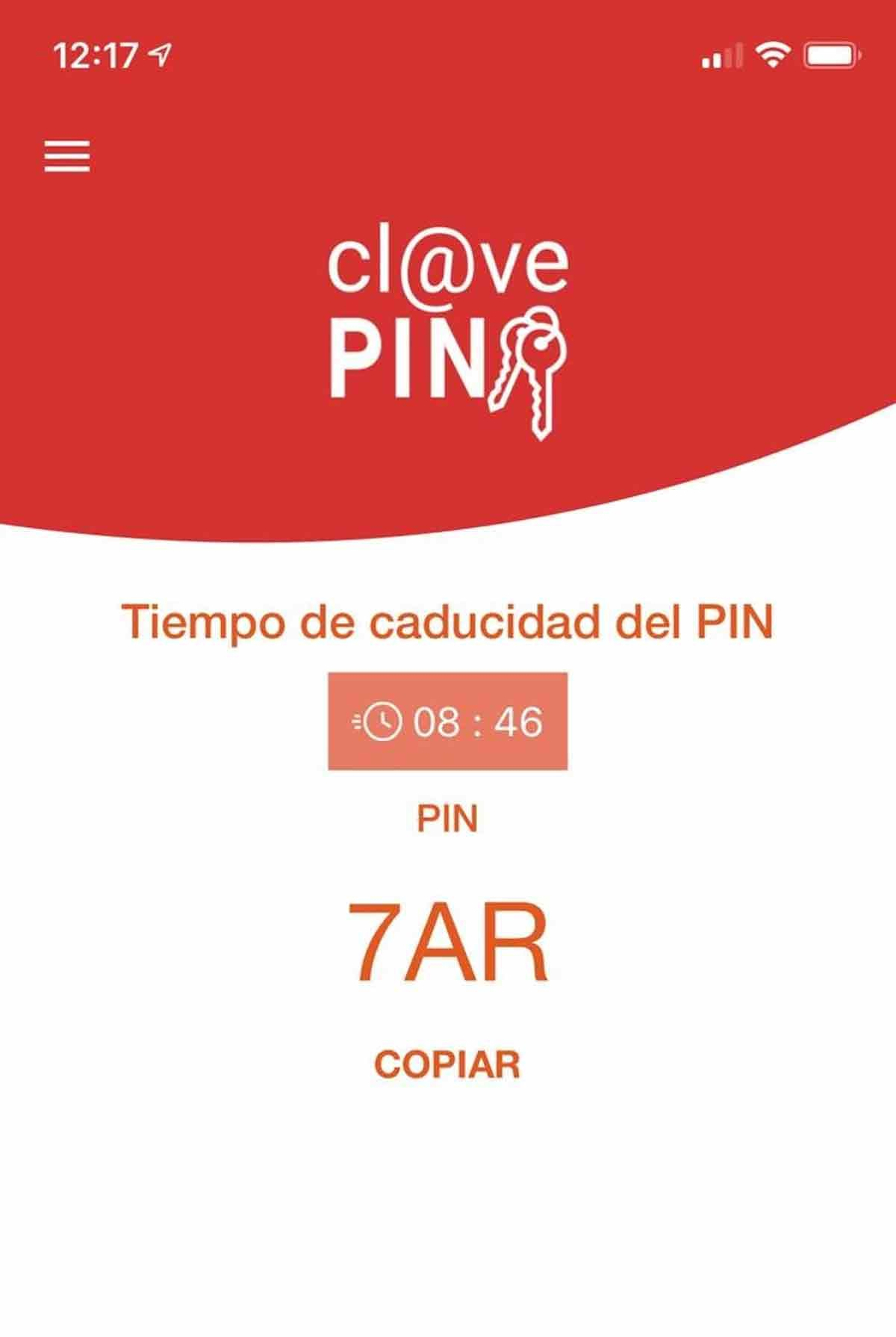 app Clave Pin