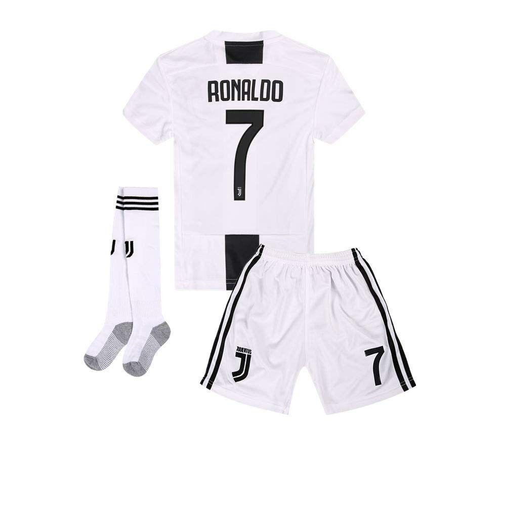 Kids Youth Home Soccer Jersey Shorts Socks 2018 2019 Black White Cn18kdnt0ol Size 7 8y Size22 Jersey Shorts Sports Shirts Kids Soccer