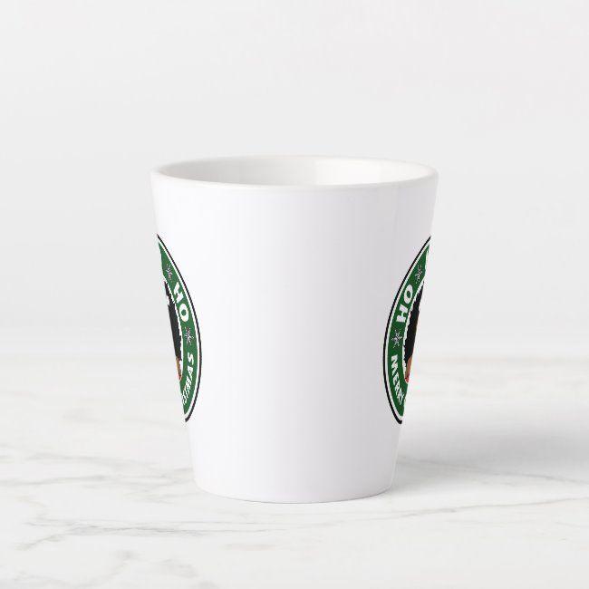 Gorgeous Ho Ho Ho Merry Christmas Afro Girl Latte Mug ,