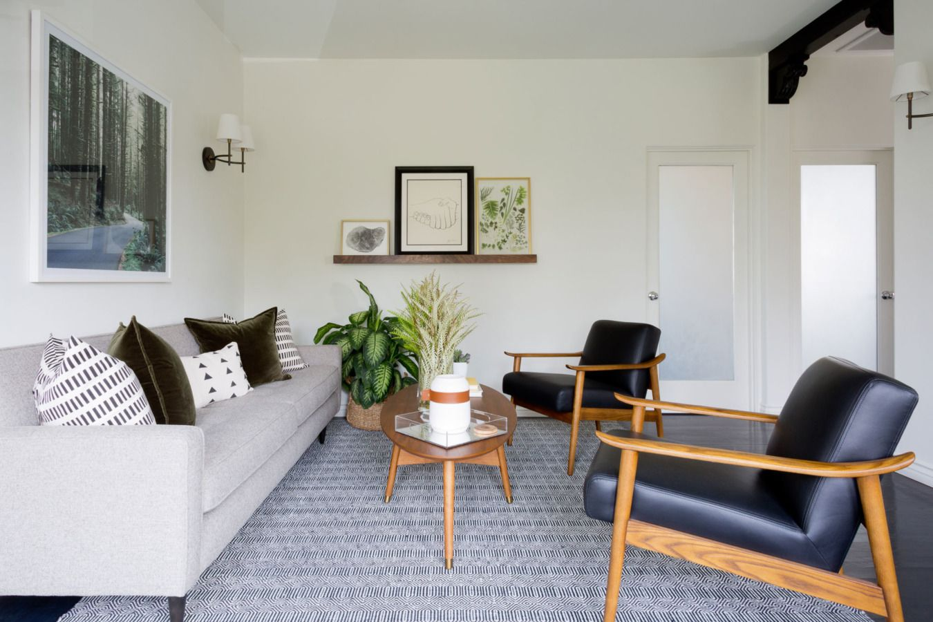 A Serene, Residential Look for a Hollywood Office