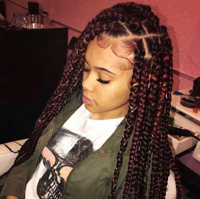 box braids on mixed girl hair