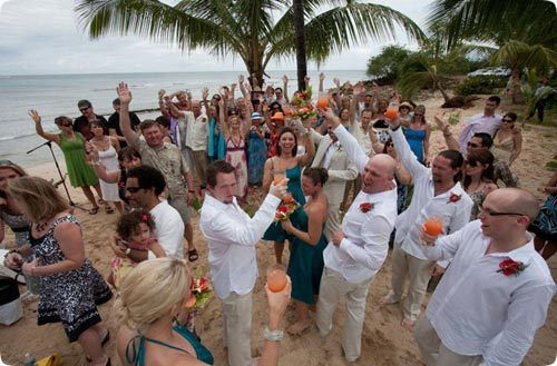 Barbados Beach Wedding Cheers This Is A Photo Of Family Visiting However Doing