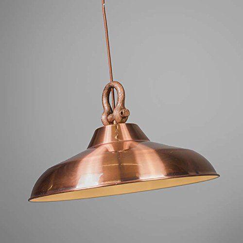 ETH Industriel Rustique Moderne Lustre Strijp cuivre Metal Rond
