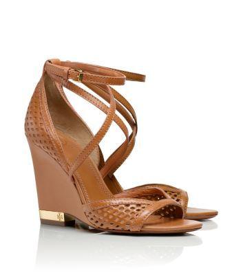 alyssa wedge sandal / tory burch