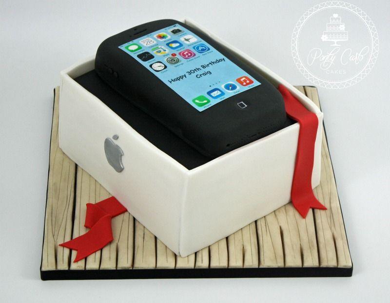 Another Of Last Weeks Birthday Cakesx Apple Iphone Cake Boys