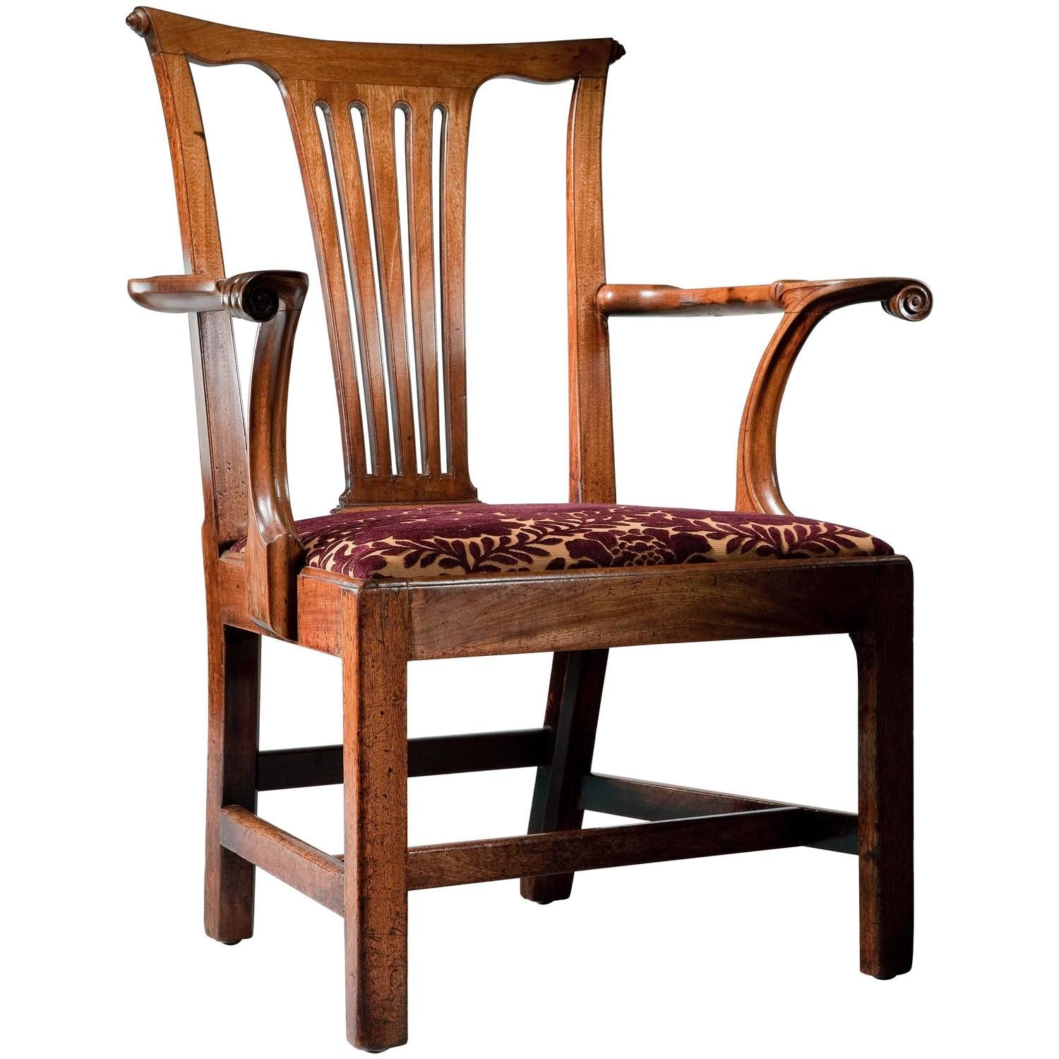 Mid 18th century Mahogany Open Armchair in the manner of Giles
