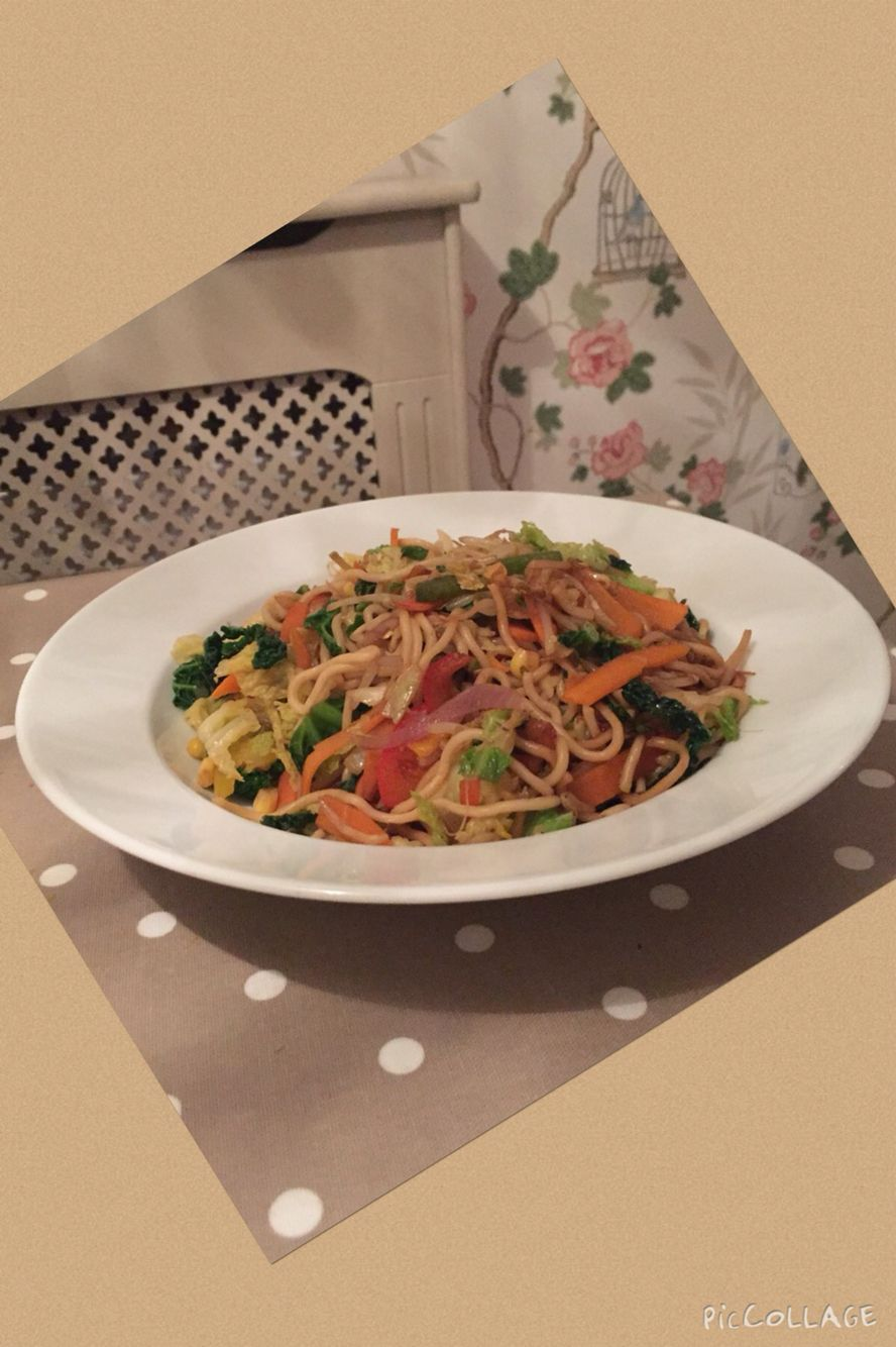 Last nights dinner - stir fry veg and noodles