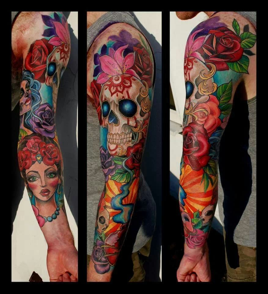 By hannah cavalera full arm pinterest tattoo and tatoo - Tatouage cavalera ...
