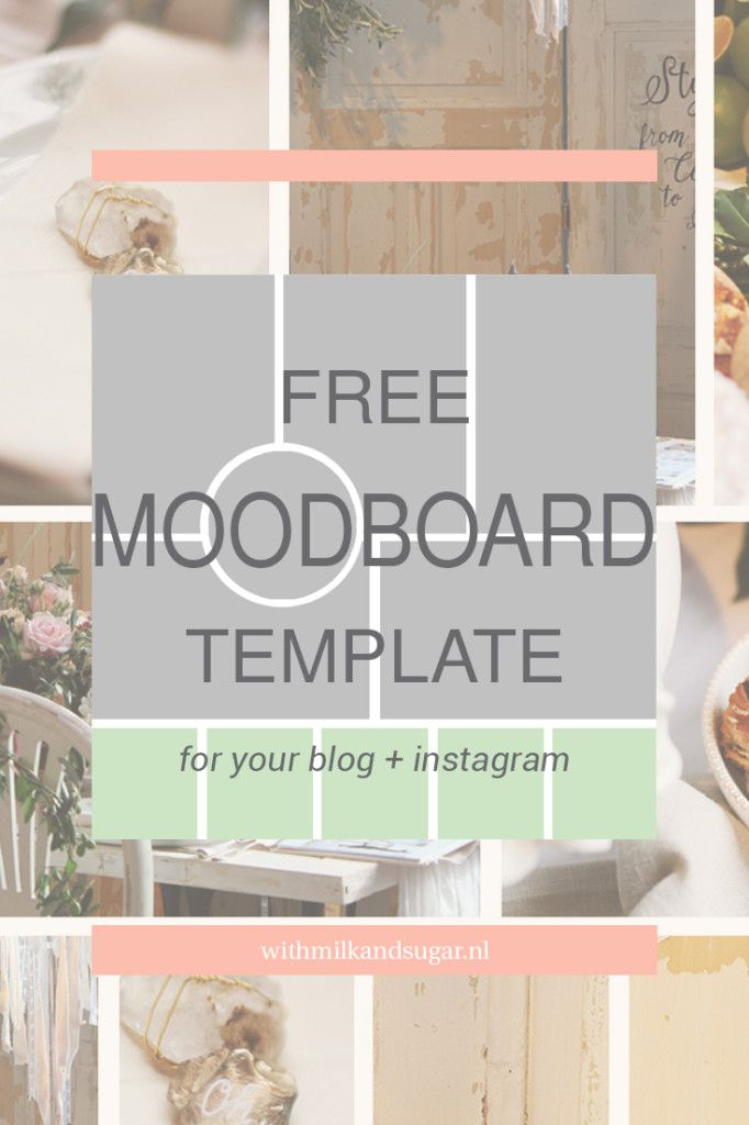 Free Moodboard Template Download - With Milk and Sugar [.nl ...
