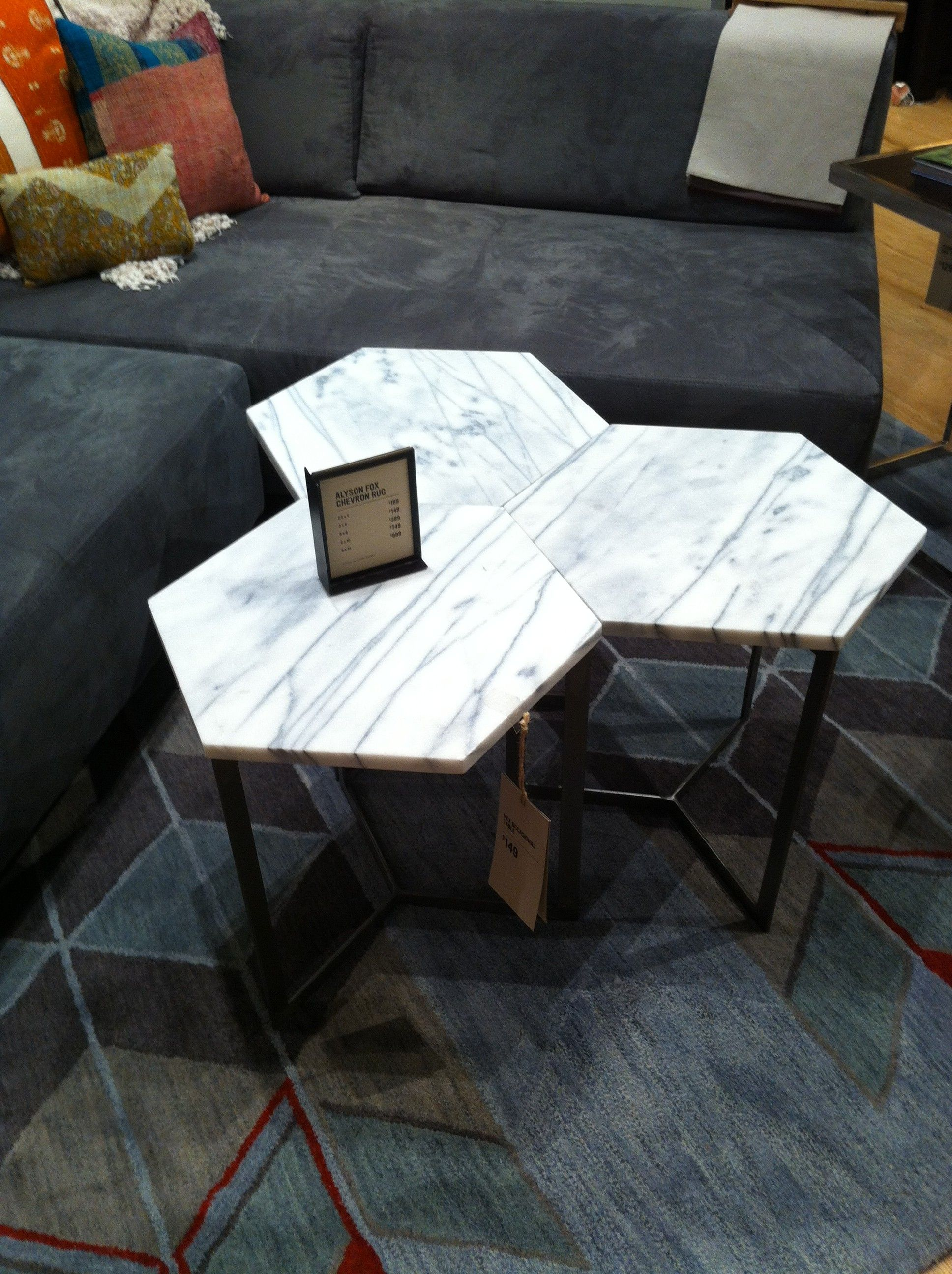 Hex side table from West Elm home coffee tables