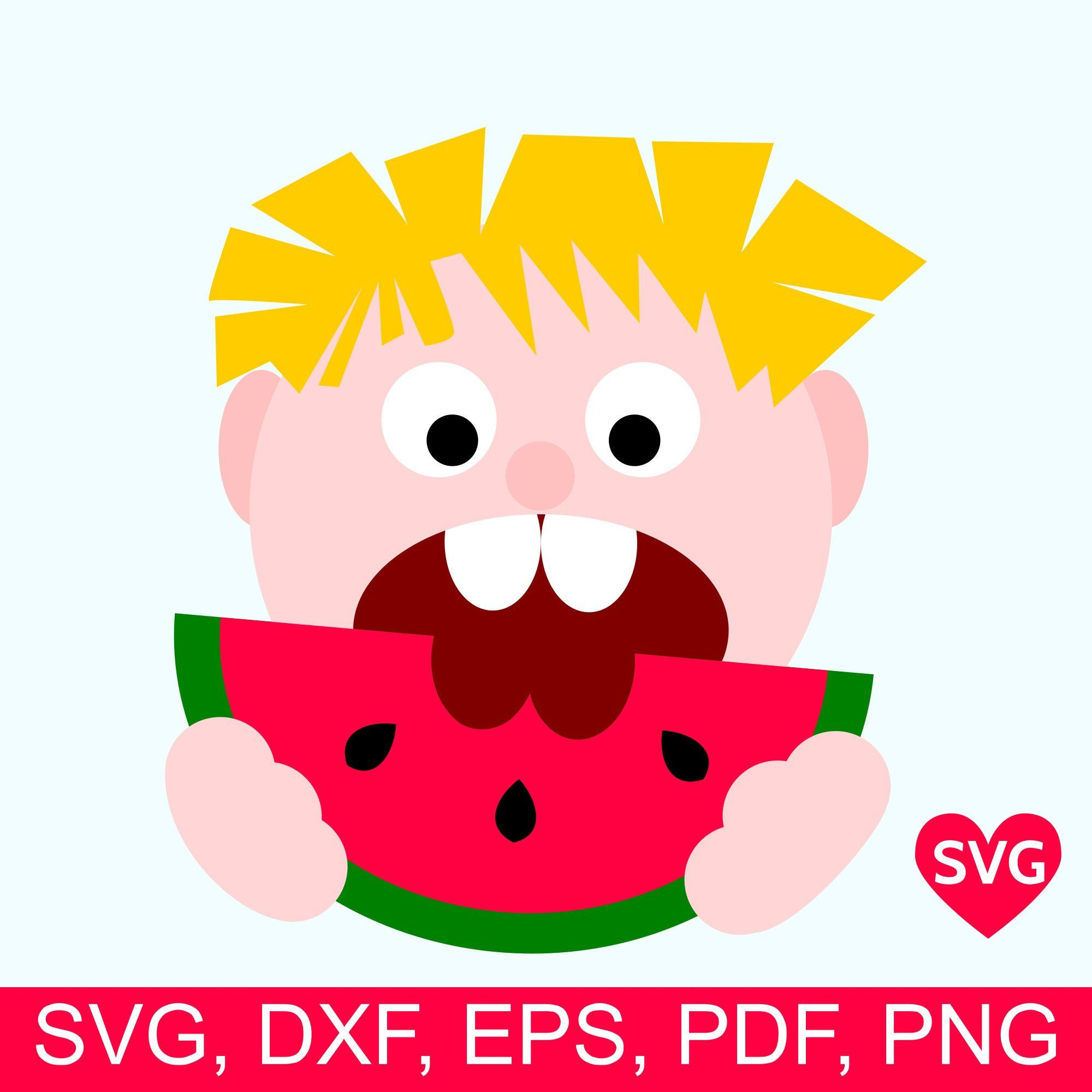 Watermelon boy SVG file