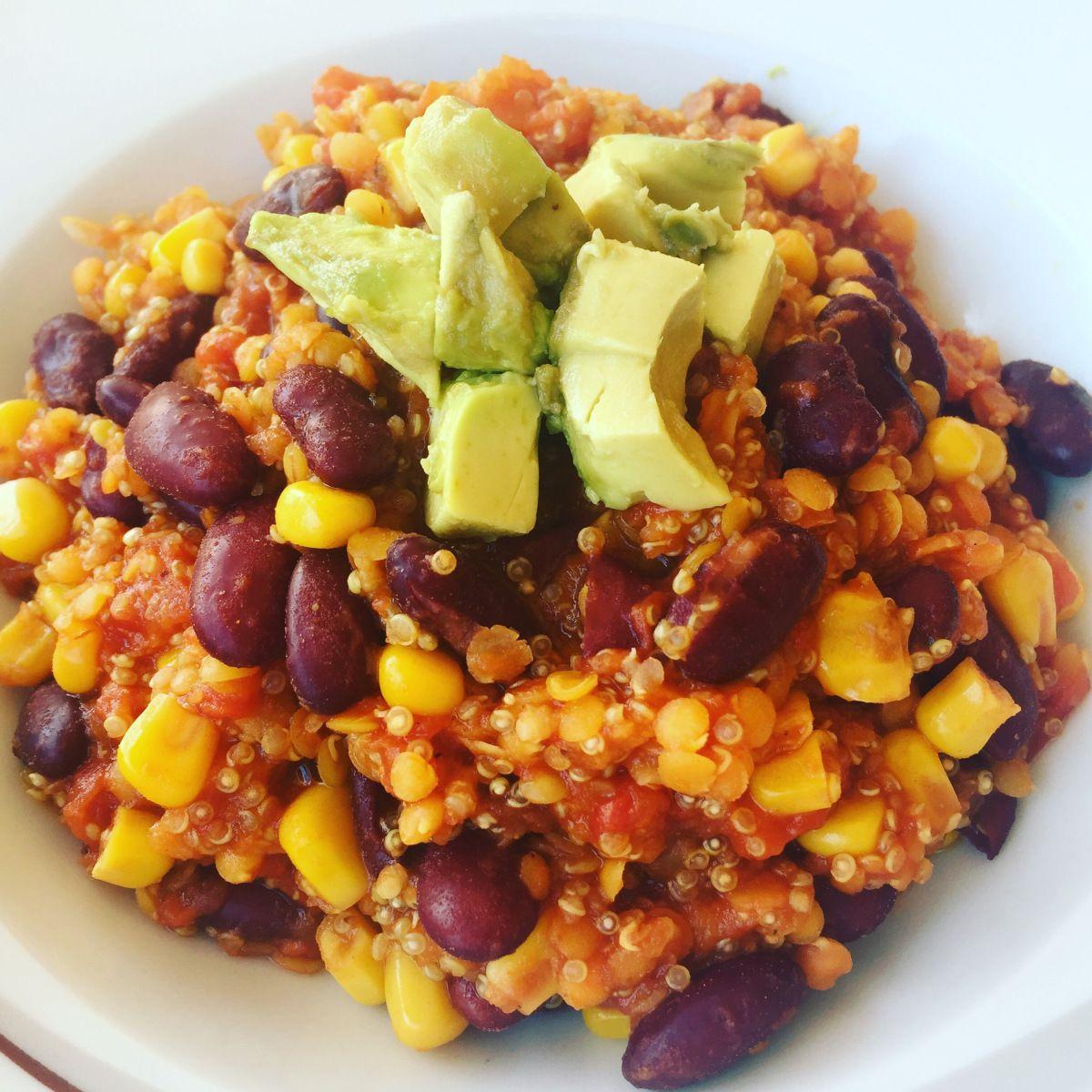 Chili sin Carne mit Quinoa #veggiechilirecipe