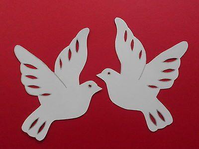 Filigranes Fensterbild Tonkarton 2 Tauben Hochzeit Kommunion