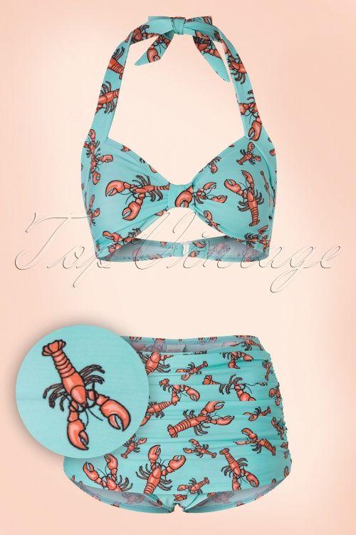 170a4555a5942a Esther Williams Lobster Bikini Top 160 39 17575 20160217 0003SetV Rock  Lobster, Esther Williams,