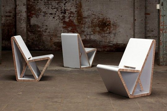 Thonetu0027s VouwWow VW01 Is A Flat Pack Recycled Honeycomb Cardboard Chair