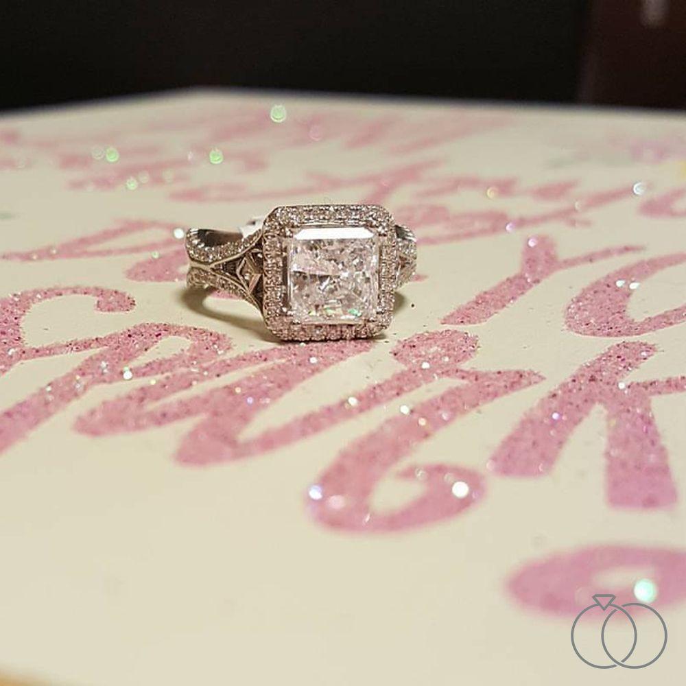 Michael M. 18k White Gold Diamond Engagement Ring Setting 3/4 cttw ...