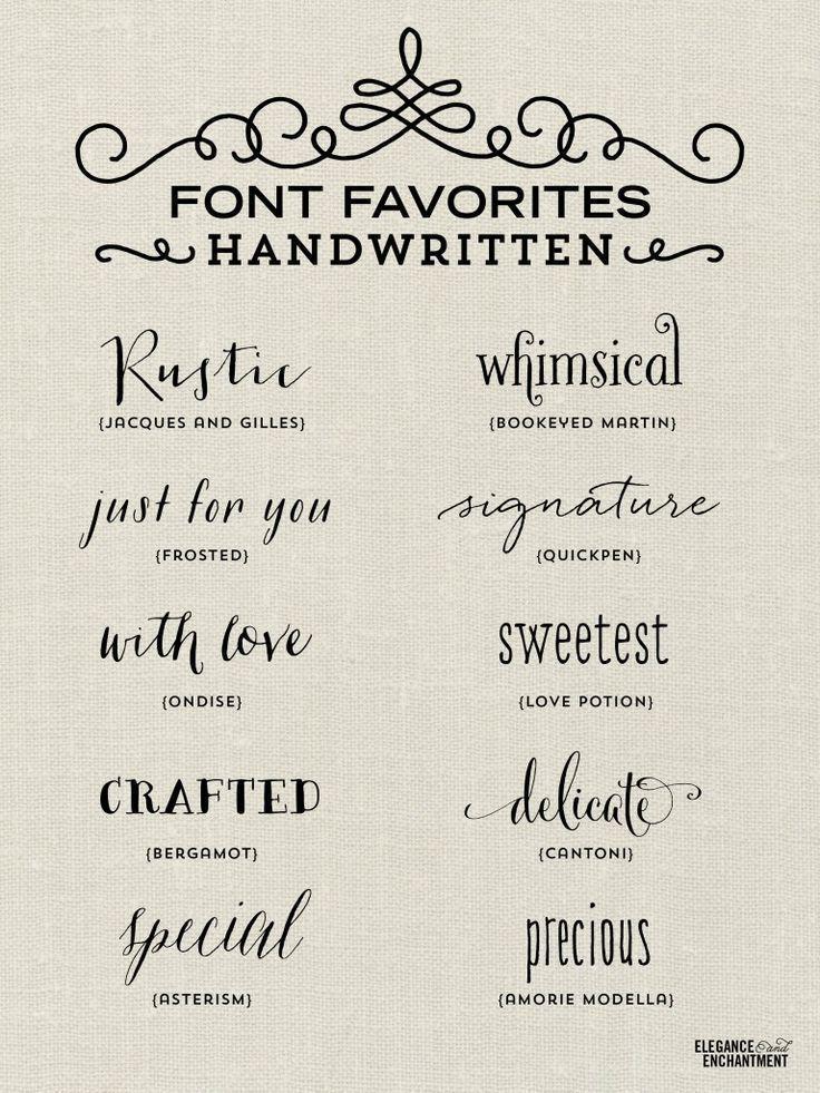 Elegance And Enchantment Font Favorites