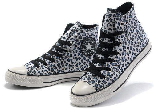 Hi converse shoes All Star leopard prints canvas sneaker shoes with shoe lace black white-: Amazon.co.uk: Shoes & Accessories