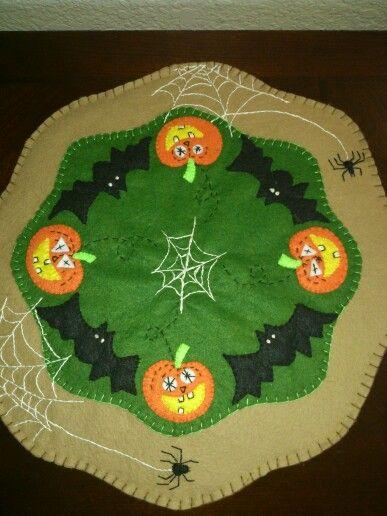 Halloween candle rug. Oh my!!