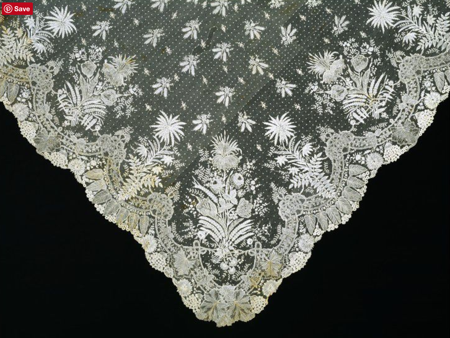 A lace wedding veil in the eighteenth century. (SOURCE: http://collections.vam.ac.uk/item/O87097/wedding-veil-unknown/)