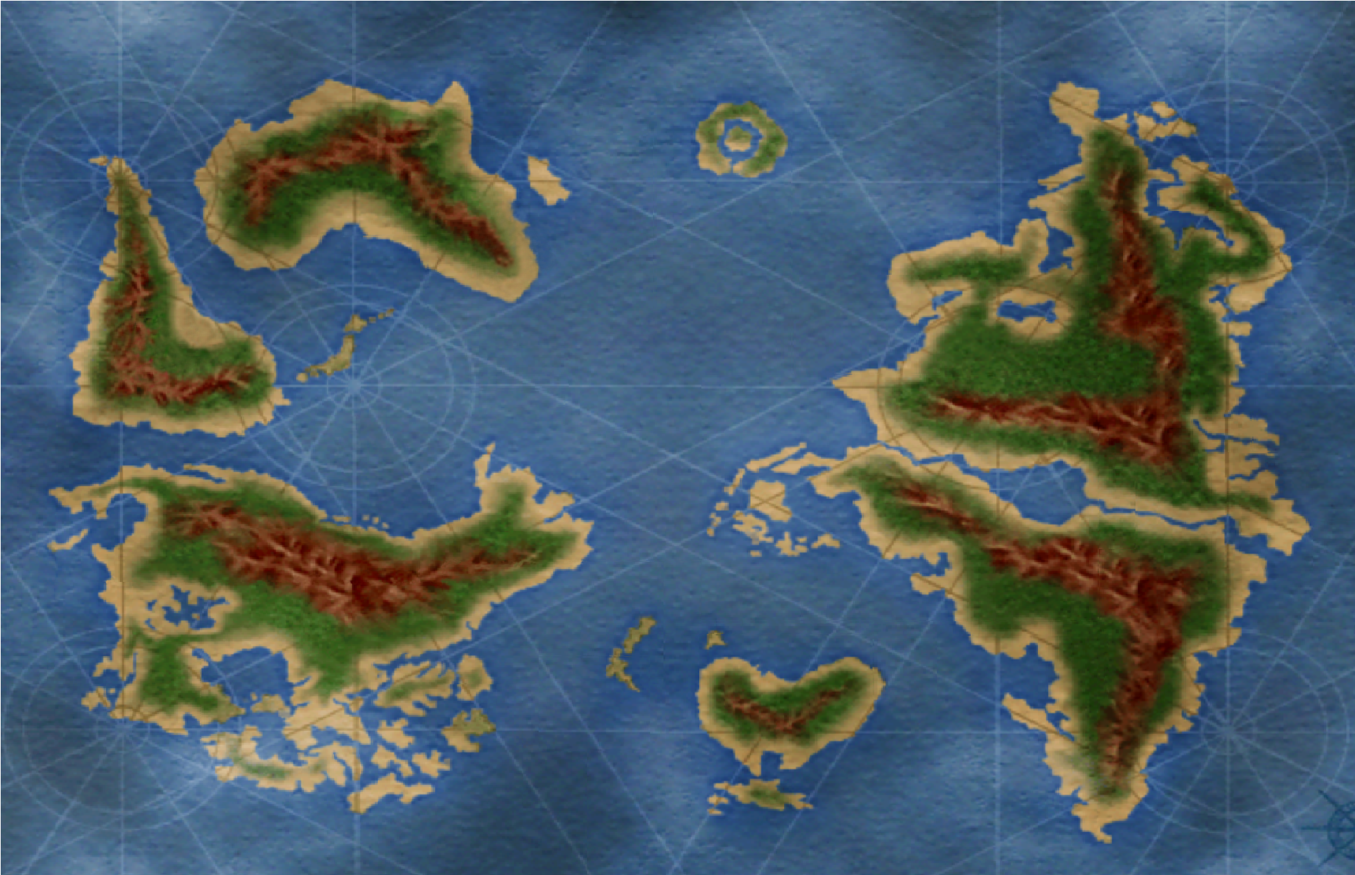 Hunter X Hunter world Map (1932×1248) | Hunter X Hunter