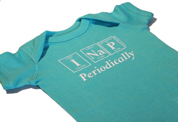 Periodically Inspired I NAP PERIODICALLY Periodic Table Baby Creeper - new periodic table image