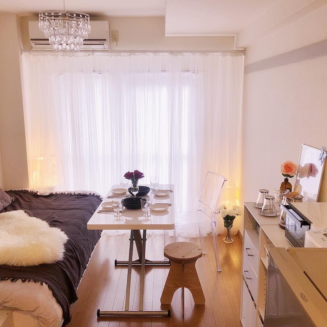 ワンルームはアイデア勝負 お部屋をとびきり広く見せる方法4選 ワンルーム レイアウト 6 畳 インテリア 収納 寝室 レイアウト 6畳