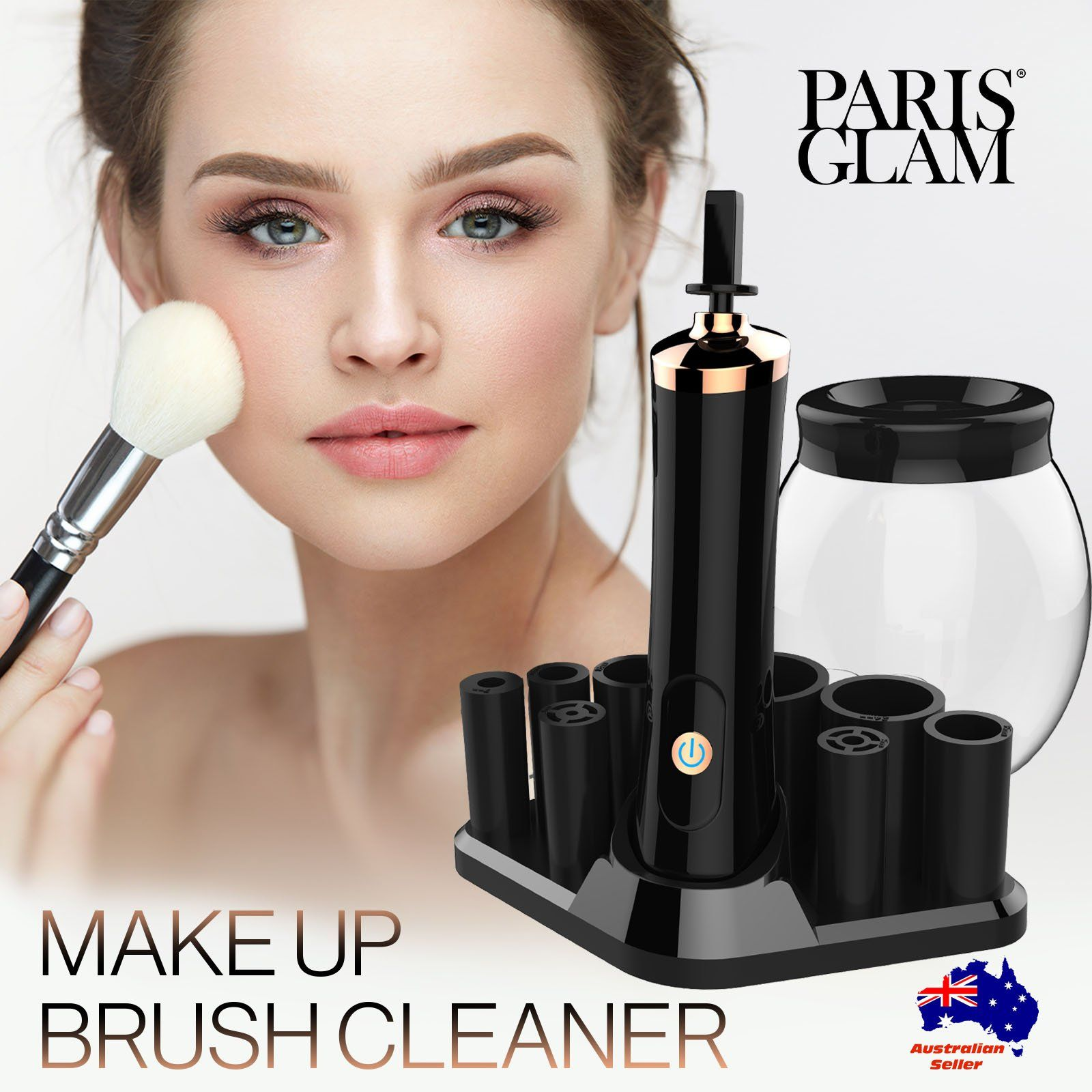 Photo of Paris Glam Makeup Brush Cleaner Electric Make-up Brush Cosmetic Cleanser & Dryer
