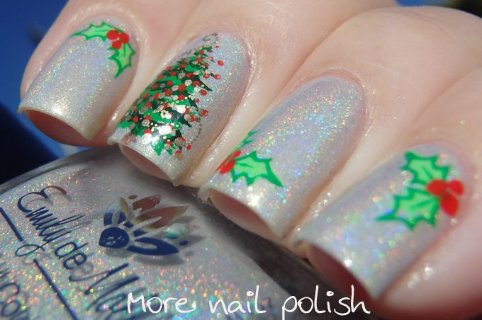 40 Great Nail Art Ideas - Christmas + clear jelly stamper ~ More ...