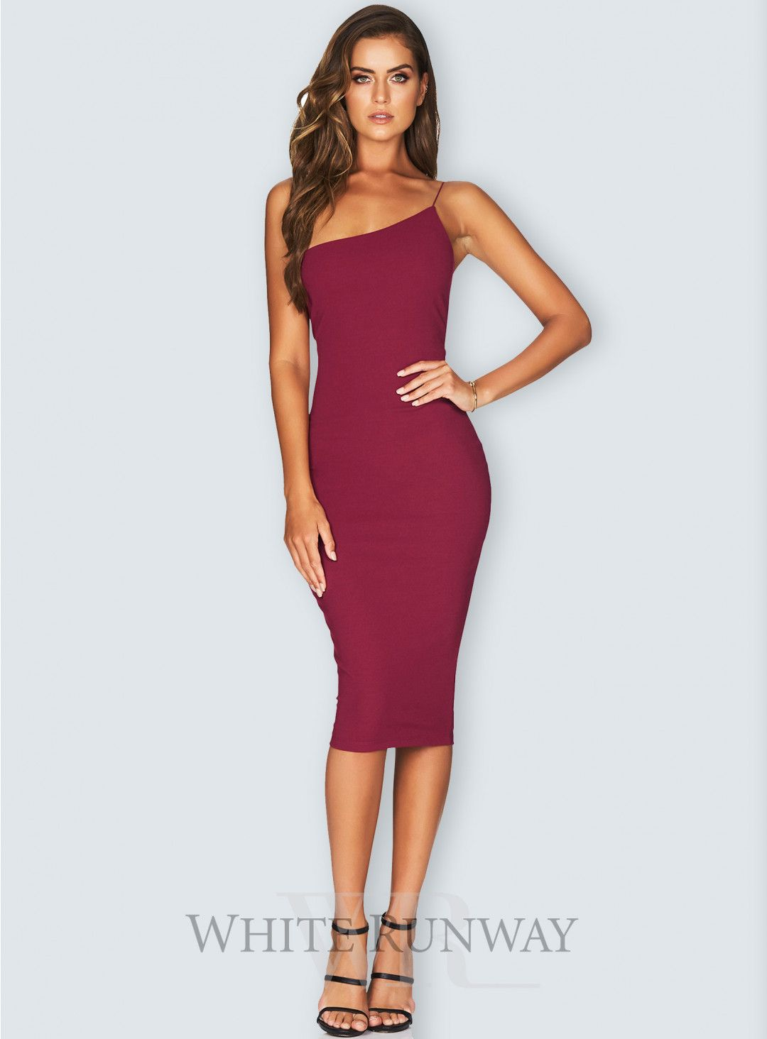 f74b9157e5eb Penelope Midi. A sexy midi by Nookie. A one shoulder bodycon dress  featuring a fine elastic shoulder strap and made from Nookie's signature  form fitting ...