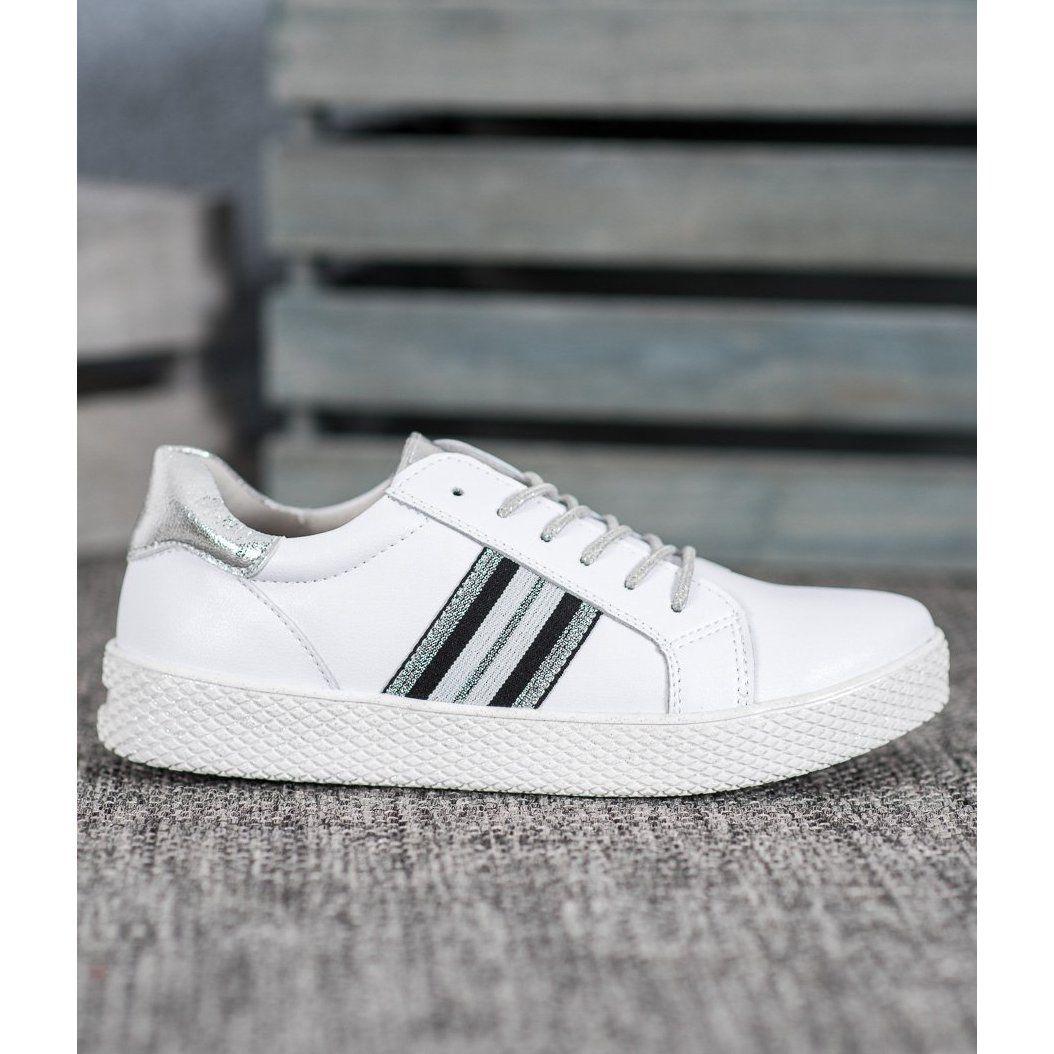 Filippo Skorzane Buty Na Platformie Biale Shoes Women Shoes White Sneakers Women